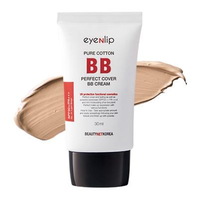 ББ крем с гиалуроновой кислотой EYENLIP Pure Cotton Perfect Cover BB Cream (SPF50+/PA+++) - Color 23