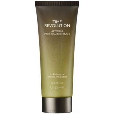 Глиняная маска-пенка для ежедневного очищения MISSHA Time Revolution Artemisia Pack Foam Cleanser - 150 г