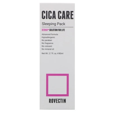 Ночная маска с центеллой ROVECTIN Skin Essentials Cica Care Sleeping Pack - 80 мл
