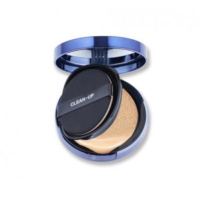 Антивозрастной тональный кушон 3 в 1 с эффектом glass-skin CUSKIN Clean Up Skinfit Cushion Pact - 15 г + 15 г