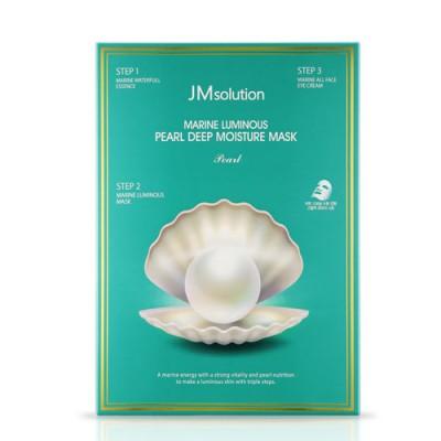 Трехшаговый набор с экстрактом жемчуга JM SOLUTION Marine Luminous Black Pearl Balancing Mask