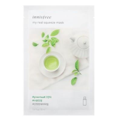 Тканевая маска с зеленым чаем INNISFREE My Real Squeeze Mask - Green Tea
