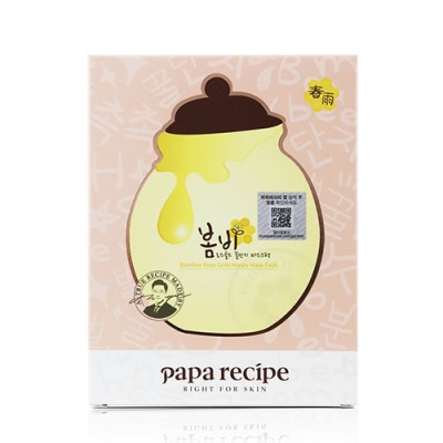 Тканевая маска с экстрактом меда и розы PAPA RECIPE Bombee Rose Gold Honey Mask Pack