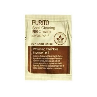 ББ крем с улиткой PURITO Snail Clearing BB Cream - Sand Beige пробник