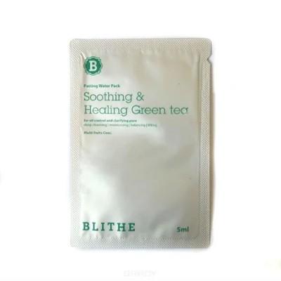 Сплэш-маска с зеленым чаем BLITHE Patting Splash Mask Soothing & Healing Green Tea - 5 мл