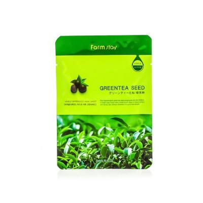 Тканевая маска для сухой кожи с зеленым чаем FARM STAY Visible Difference Mask Sheet - Green tea