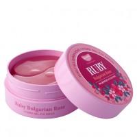 Патчи под глаза с рубиновой пудрой и болгарской розовой водой KOELF Hydrogel Eye Patch - Ruby & Bulgarian Rose
