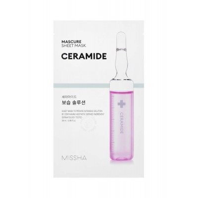 Тканевая маска с керамидами MISSHA Mascure Solution Sheet Mask - Ceramide