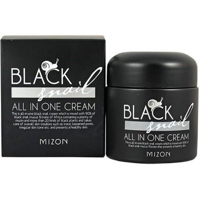 Крем для лица с черной улиткой MIZON Black Snail All In One Cream