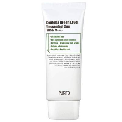 Cолнцезащитный крем без эфирных масел PURITO Centella Green Level Unscented Sun - 60 мл