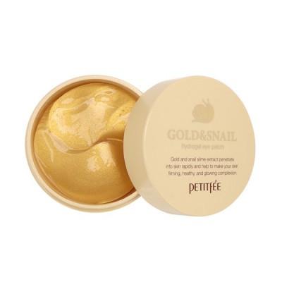 Патчи под глаза с улиткой и золотом PETITFEE Gold & Snail Hydrogel Eye Patch