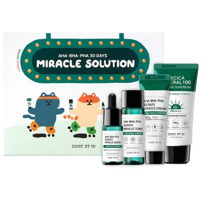 Набор миниатюр для проблемной кожи SOME BY MI AHA BHA PHA 30 Days Miracle Solution Kyebbang Edition 4 Step Kit