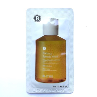 Многофункциональная сплеш-маска BLITHE Patting Splash Mask Energy Yellow Citrus & Honey - 5 мл