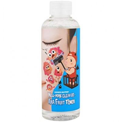 Тонер с AHA кислотами ELIZAVECCA Milky Piggy Hell Pore Clean Up AHA Fruit Toner