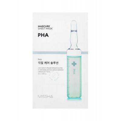 Тканевая маска для лица с PHA кислотами MISSHA Mascure Solution Sheet Mask - PHA