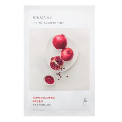 Тканевая маска с гранатом INNISFREE My Real Squeeze Mask - Pomegranate