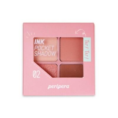 Высокопигментированные тени для глаз PERIPERA Ink Pocket Shadow Palette 02 Once Upon A Pink