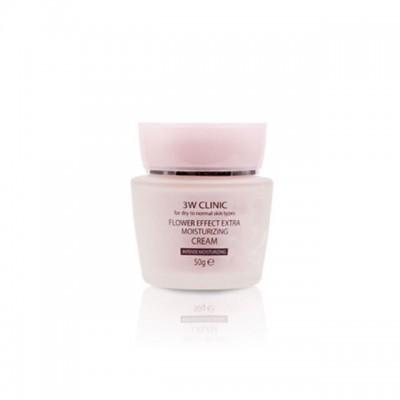 Увлажняющий крем 3WCLINIC Flower Effect Extra Moisturizing Cream