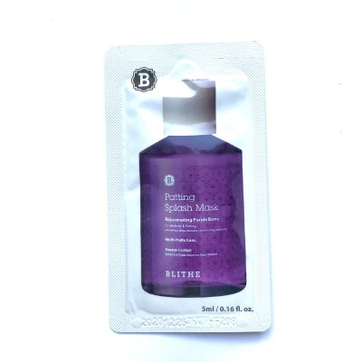 Сплэш-маска с экстрактами ягод BLITHE Patting Splash Mask Rejuvenating Purple Berry - 5 мл