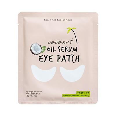 Гидрогелевые патчи для глаз с кокосом TOO COOL FOR SCHOOL Coconut Oil Serum Eye Patch