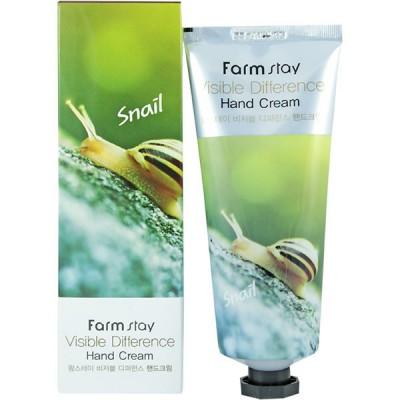 Крем для рук с муцином улитки FARM STAY Visible Difference Hand Cream - Snail