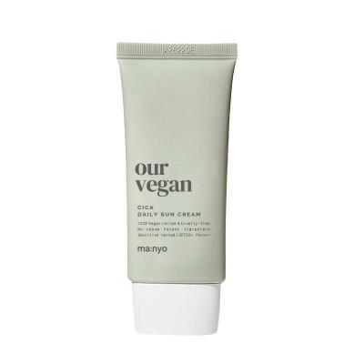 Успокаивающий солнцезащитный крем на физических фильтрах MA:NYO Our Vegan Cica Daily Sun Cream - 50 мл