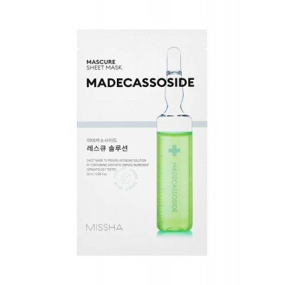 Тканевая маска для лица с мадекассосидом MISSHA Mascure Solution Sheet Mask - Madecassoside
