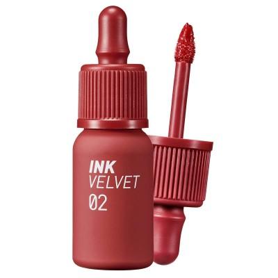 Матовый тинт для губ с увлажняющим действием PERIPERA Ink The Velvet (AD) Color 02 Celeb Deep Rose - 4 г