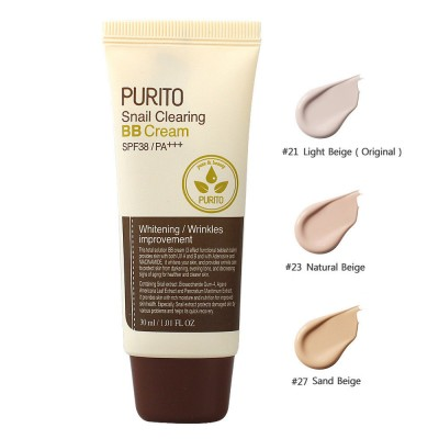 ББ крем с улиткой PURITO Snail Clearing BB Cream - Light Beige