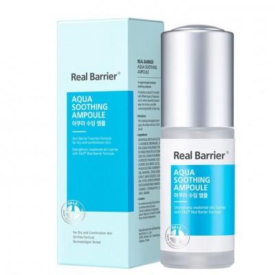 Успокаивающая ампульная сыворотка с гиалуроновой кислотой REAL BARRIER Aqua Soothing Ampoule - 30 мл
