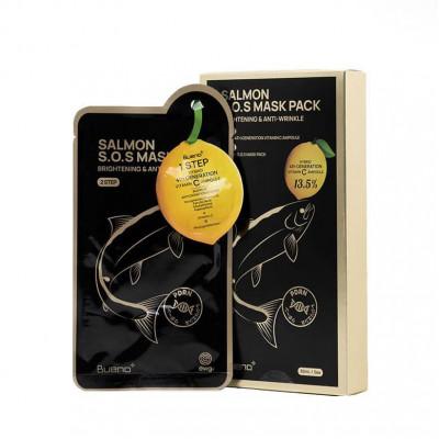 Питательная маска для лица с эффектом лифтинга BUENO Salmon S.O.S Mask