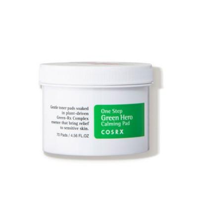 Двусторонние пилинг диски COSRX One Step Green Hero Calming Pad - 70 шт
