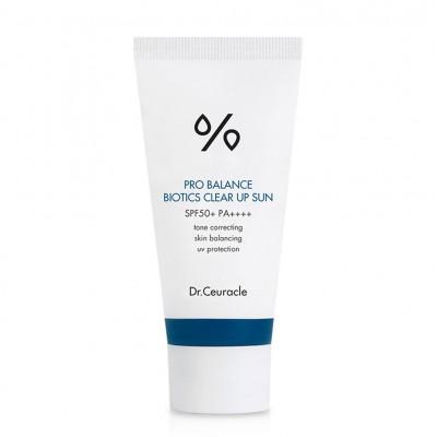 Солнцезащитный крем с пробиотиками DR CEURACLE Pro Balance Biotics Clear Up Sun SPF - 50 мл