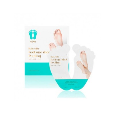 Пилинг носочки с AHA кислотами HOLIKA HOLIKA Baby Silky Foot One Shot Peeling