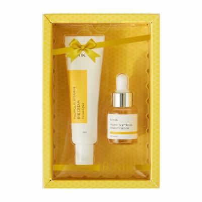 Витаминный набор с кремом для век и сывороткой на основе прополиса IUNIK Propolis Eye Cream Set