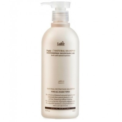Бессульфатный органический шампунь LADOR Triplex Natural Shampoo - 530 мл