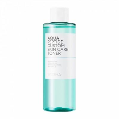 Увлажняющий тонер с пептидами MISSHA Aqua Peptide Custom Skin Care Toner