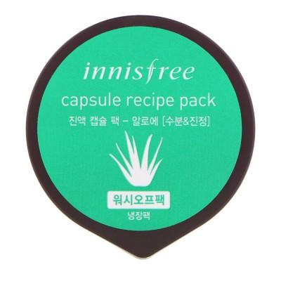 Увлажняющая маска для лица с экстрактом алоэ INNISFREE Capsule Recipe Pack Aloe (wash off pack)