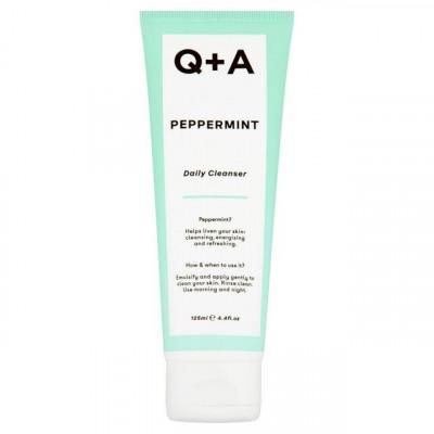Очищающий гель для лица с мятой Q+A Peppermint Daily Cleanser - 125 мл