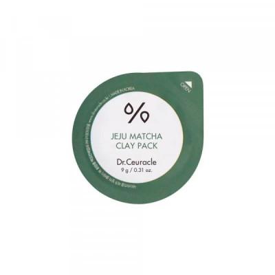 Очищающая глиняная маска с чаем DR CEURACLE Jeju Matcha Clay Pack - 9 г