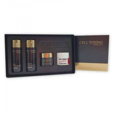 Набор мини версий антивозрастных средств для ухода за кожей лица и шеи MEDI-PEEL Cell Toxing Dermajours Trial Kit