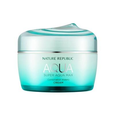 Увлажняющий крем-гель для лица для комбинорованнной кожи NATURE REPUBLIC Super Aqua Max Combination Watery Cream