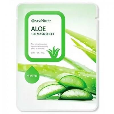 Тканевая маска с алоэ SEANTREE Aloe 100 Mask Sheet