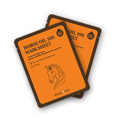 Тканевая маска с лошадиным жиром SEANTREE Horse Oil 100 Mask Sheet