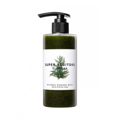 Очищающая детокс-пенка WONDER BATH Super Vegitoks Cleanser Green - 300 мл