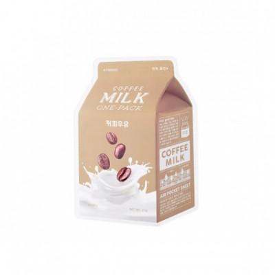 Тканевая маска с кофе A'PIEU Milk One Pack - Coffee