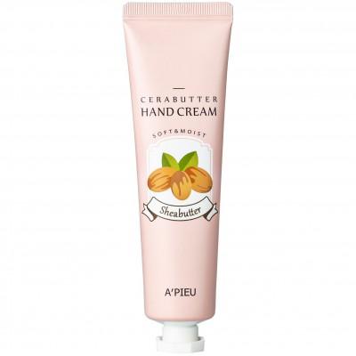 Увлажняющий крем для рук с мягкой и нежной текстурой A'PIEU CeraButter Hand Cream Sheabutter - 35 мл