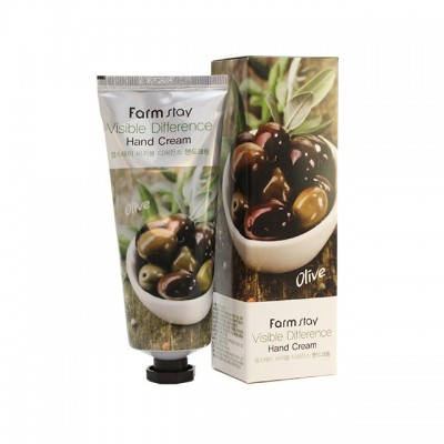 Крем для рук с оливками FARM STAY Visible Difference Hand Cream - Olive