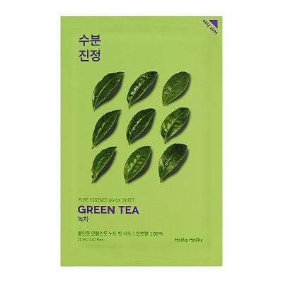 Тканевая маска с зеленым чаем HOLIKA HOLIKA Pure Essence Mask Sheet - Green Tea