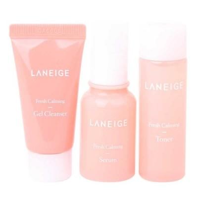 Мини набор для чувствительной кожи LANEIGE Fresh Calming 3 Kit